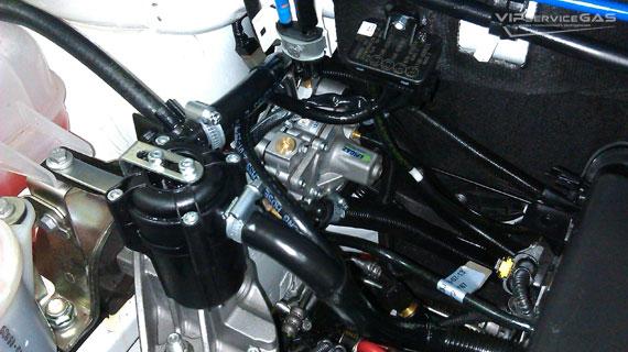Газовая установка на Fiat