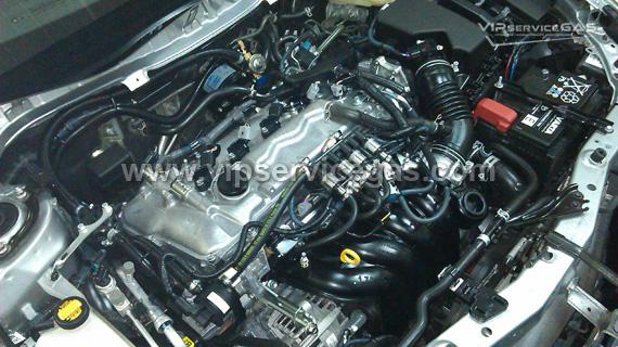 Установка гбо на Toyota Auris 1.6