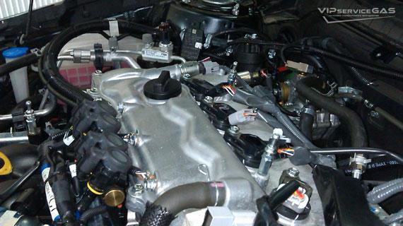 Установка гбо на Toyota Avensis 1.8