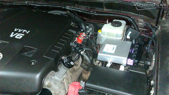 Установка гбо на Toyota FJ Cruiser 4.0