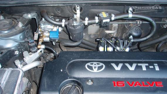 Газ на Toyota RAV4 2.0