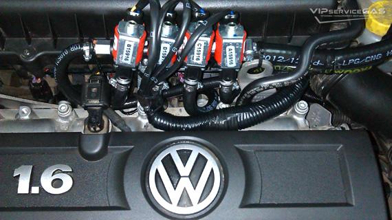Установка гбо на Volkswagen Polo 1.6